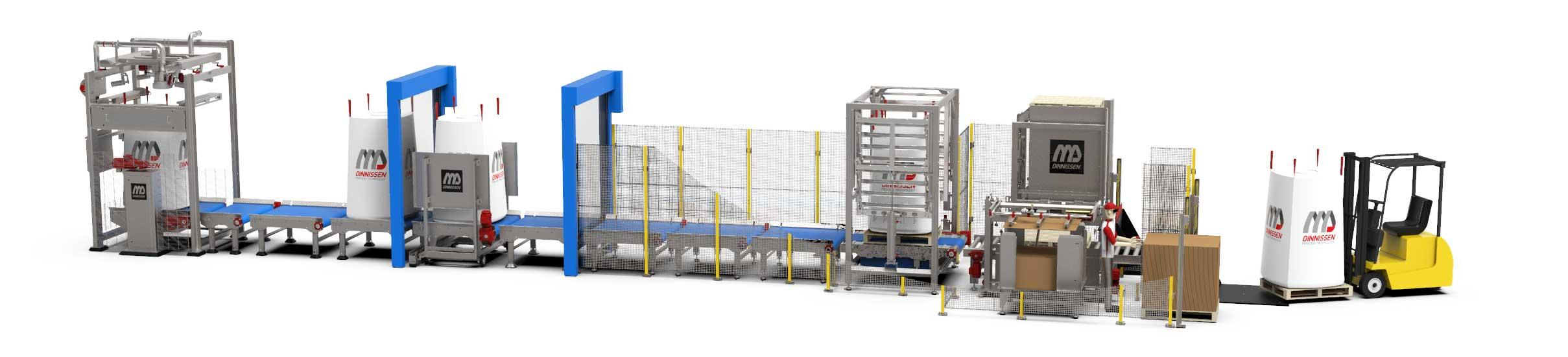 High-Care big-bag vullen en palletiseren